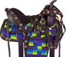 Blue Green Trail Synthetic Western Horse Saddle Tack 16 [9962] (Out Of Stock)