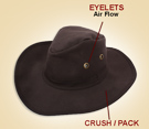 New Brown Australian Aussie Cowboy Oil Cloth Hat [A0415] (Out Of Stock)