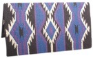Blue Premium New Zealand Wool Show Horse Saddle Blanket [B0453] (Out Of Stock)