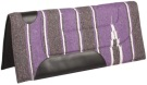 Purple Gray Felt Lined Western Saddle Pad [B0511]