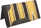 Yellow Black Felt Lined Western Saddle Pad [B0512] (Out Of Stock)