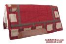 Red Wool Felt Heavy Western Horse Saddle Pad[B0581]