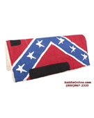 New Rebel Confederate Flag Fleece Lined Saddle Pad[B0586] (Out Of Stock)