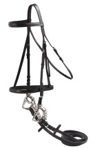 Black All Purpose Leather English Horse Bridle Reins Set [B0621] (Out Of Stock)