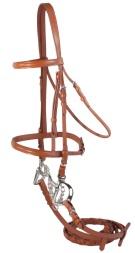 Premium Tan Leather All Purpose English Horse Bridle & Reins[B0622]