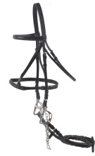 Premium Black Leather All Purpose English Horse Bridle & Reins[B0623] (Out Of Stock)