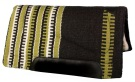 Black Olive and White Heavy Duty Wool Western Horse Saddle Pad [B1715] (Out Of Stock)