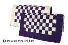 Purple And White Checkered Reversible Show Blanket [B1812] (Out Of Stock)