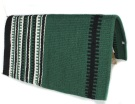 Green White And Black Striped Premium Show Blanket [B1900] (Out Of Stock)