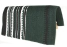 Dark Green With Black And White Stripe Pattern Show Blanket[B1904] (Out Of Stock)