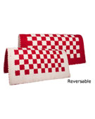 Red/Beige Reversible Saddle Show Blanket [B1997] (Out Of Stock)