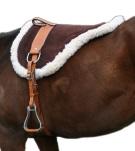 Natural Horsemanship Premium Brown Leather Bareback Pad[B3022] (Out Of Stock)