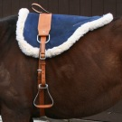 Natural Horsemanship Navy Blue Leather Bareback Pad [B3023] (Out Of Stock)