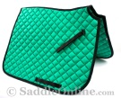 Premium Padded Green Black All Purpose English Horse Saddle Pad [B9501] (Out Of Stock)