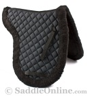Premium Black Australian Fleece Horse Saddle Pad [B9507A]
