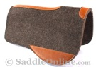 Grey Leather Contoured Felt Shock Absorbing Western Saddle Pad [B9514]