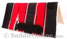 Black Red Navajo Acrylic Fleece Western Horse Saddle Pad 32x32 [B9518]
