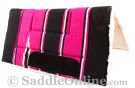 Black Pink Navajo Acrylic Fleece Western Horse Saddle Pad 32x32 [B9519] (Out Of Stock)