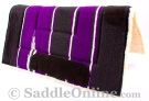 Black Purple Navajo Acrylic Fleece Western Horse Saddle Pad [B9521] (Out Of Stock)