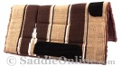 Brown Tan Navajo Acrylic Fleece Western Horse Saddle Pad 32x32 [B9522] (Out Of Stock)