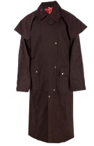 Full Length Men Brown Australian Oilskin Duster Coat [C0020]