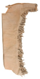 Beige Tan Leather Suede Western Horse Show Chaps Fringe [C0143] (Out Of Stock)