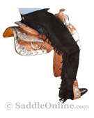 Western Horse Show Suede Leather Saddle Chaps S XL [C0144] (Out Of Stock)
