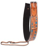 Light Oil Blue Inlay Premium Leather Rear Girth [G0099]