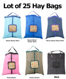 Lot of 25 Horse Top Load Hay Bag Bags Blue Pink Black Green [L25HBags] (Out Of Stock)