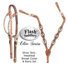 Lightning Bolt Headstall Reins Breast Collar Horse Show Tack Set [MT8048] (Out Of Stock)