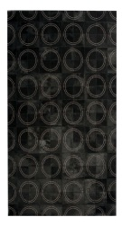 Contemporary 5x8 Cow Skin Leather Black Cowhide Rug Carpet [R0327]