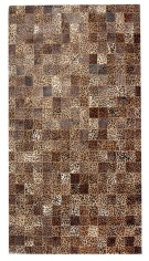 Leopard Pattern 5X8 Cow skin leather Cowhide Rug Carpet [R0330]