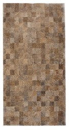 Leopard Pattern 5X8 Cow Skin Leather Cowhide Rug Carpet [R0331]