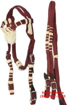 Cob Red Nylon Headstall Reins Tack Set [T0163]