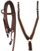 Horse Nylon Headstall Reins Breast Collar Set [T0179] (Out Of Stock)