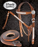 Western Leather Show Horse Headstall Breast Collar Tack Set [T0384] (Out Of Stock)