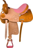 Pink Hand Carved Barrel Racing Western Horse Saddle 16 [U9595] (Out Of Stock)