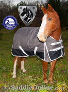 Grey 1200D Turnout Waterproof Winter Horse Blanket 70 72[WB0196] (Out Of Stock)