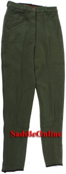 New 22-34 Green Cool Cotton Riding Breeches / Pants [c0124]