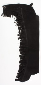 Black Leather Western Show Fringe Suede Chaps M L XL [c0140] (Out Of Stock)