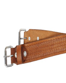 New Brown Natural Leather Black Back Cinch [g0057]