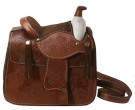 New Hand Tooled Leather Western Saddle Purse Cowgirl Handbag [sb0024]
