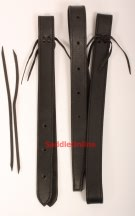 Black Leather Latigo Off Billet Set [t0035]