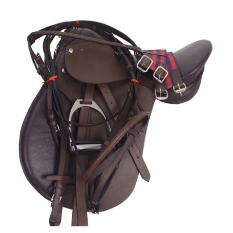NEW ALL PURPOSE BROWN ENGLISH HORSE SADDLE SET 16-17