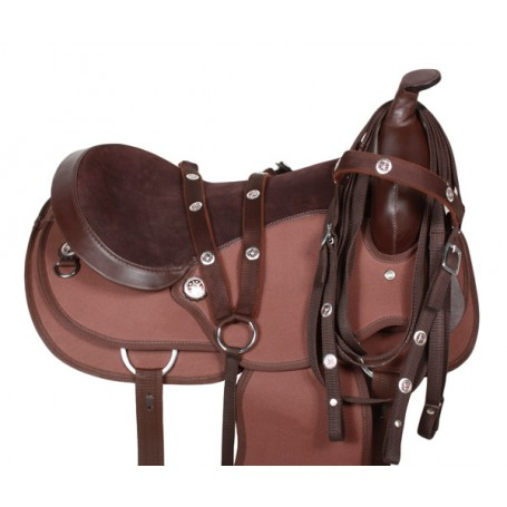 Texas Star Synthetic Western Horse Saddle Tack 17
