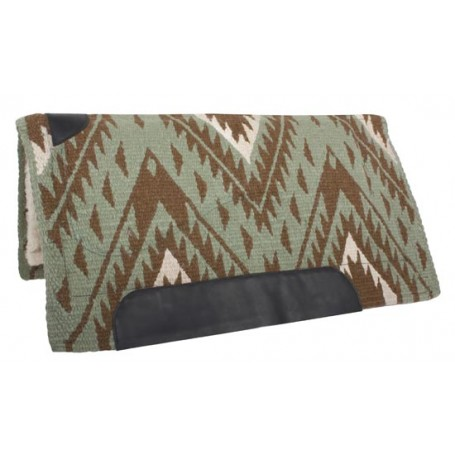 Green Brown Wool Felt Heavy Western Horse Saddle Pad