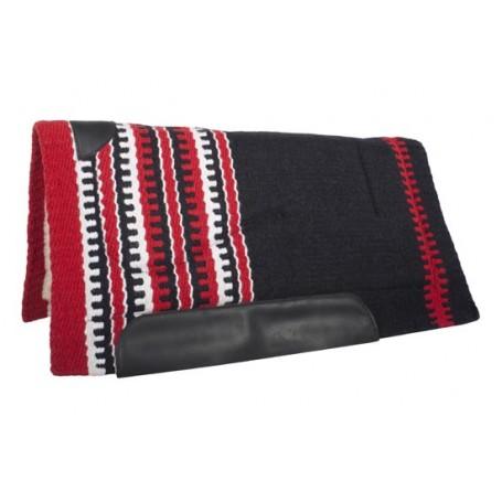 Black Red Wool Felt Heavy Western Horse Saddle Pad