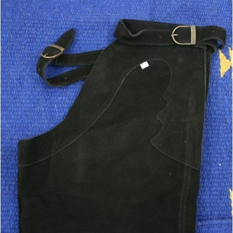 Black Leather Western Suede Chaps S M L XL