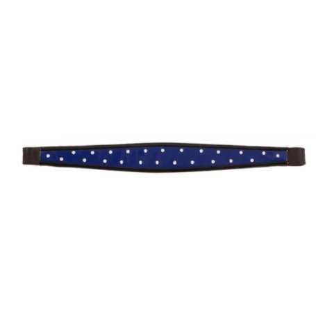 Blue White English SaddleSeat Leather Show Browband