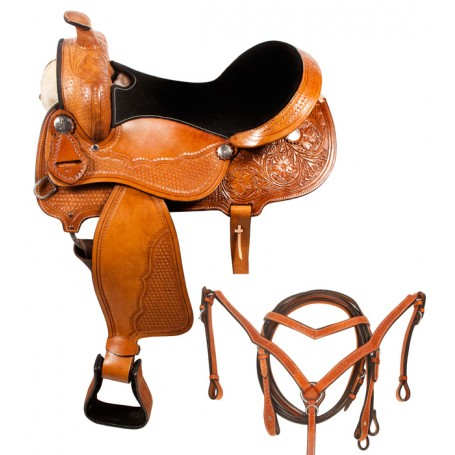 Comfortable Light Weight Western Trail Saddle 18